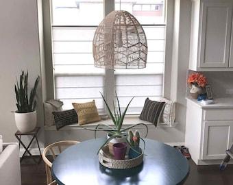 Hand Made Natural Rattan Pendant Lights-Hand Made Rattan Lighting-Pendant Lighting-Rattan Ceiling Lamps-Rattan Chandelier-Lighting Fixtures