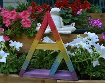 Tie Dye Crystal Charging Triangle Display Shelf