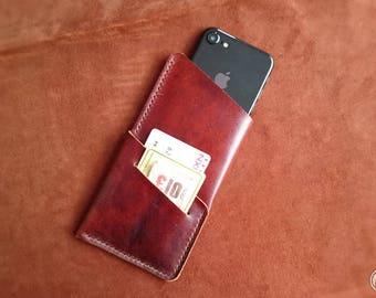 Leather iPhone 6 s Case iPhone 6, iPhone SE, iPhone 5s, iphone 6s, iPhone 7 / 6s / 6 leather, wallet, cardholder felt
