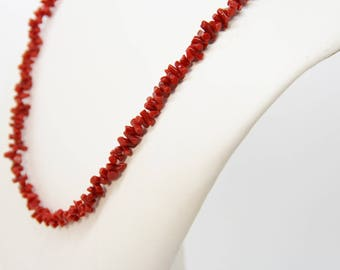 Necklace with red coral from Corsica 1st choice Cf 46
