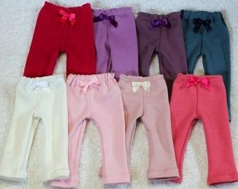 Organic! Jersey leggings , various colors for 12-14/16-18 inch Waldorf Dolls