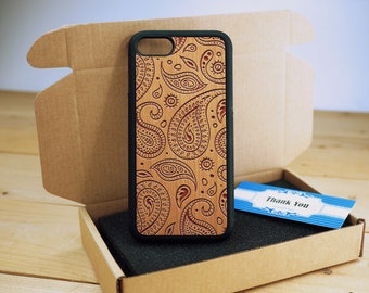 Pasieley Full Protection - Personalize  Wood iPhone case Wood iPhone 7 Case iPhone 6S Case wood iphone 6 case