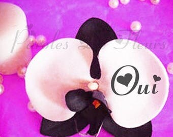 hair clip custom of your choice of color Orchid words