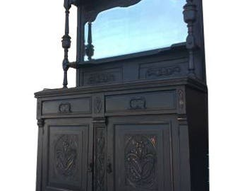 Black Distressed Rustic Chic Buffet/Credenza/Bar/Entry Table/Kitchen Island/Accent Table/Hall Tree