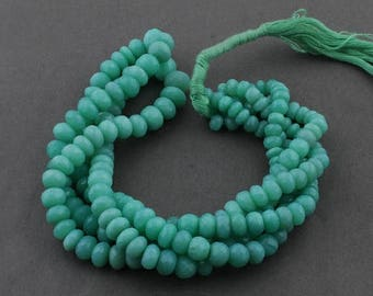 Valentines Day 1 Strand Chrysoprase Faceted Rondelles - Chrysoprase Roundles Beads 6mm-9mm 18 Inches long SB3791