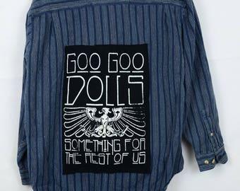 Upcycled Shirt with Goo Goo Dolls on Back