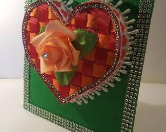 Handmade  heart on the frame