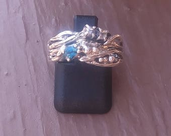 London Blue Topaz and Fine Silver Ring