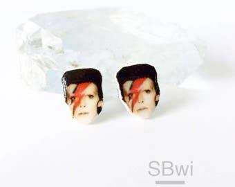 Ziggy Stardust/ David Bowie celebrity stud earrings