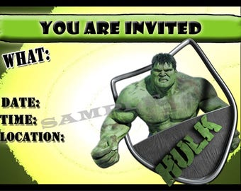 Comics & super hero invitations with matching envelopes, dead pool, spiderman, superman, batman, hulk, x-man, ant man 12-packs