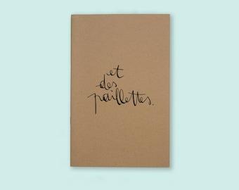 Notebook - sketchbook. and glitter