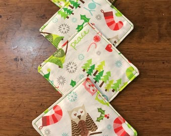 Christmas Coasters - Set of 4