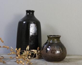 Vintage studio pottery | handmade stoneware vase | vintage pottery vessel