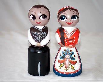 National folk costume doll - Hungary