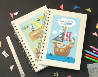 Personalised Boy's Notebook (2 designs available)