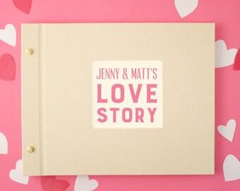 Personalised Love Typography Photo Album