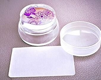 Clear stub nail art stamper (sale)