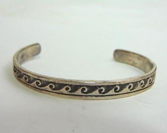 Estate Sterling Silver Cuff Bracelet 14.6g E3493