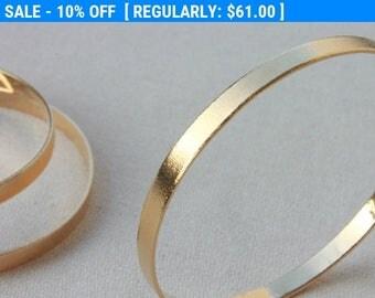 SALE 10%, 14K Gold Plated Bangle Bracelet