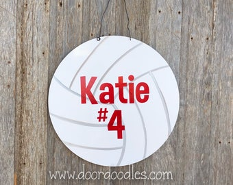Golfball auf t Haustür Deko Aufhänger Ornament Kranz Holz Holz