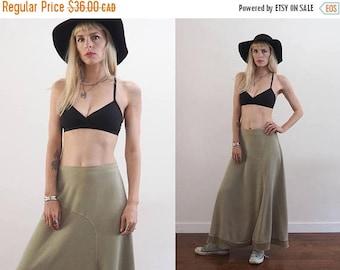 "FLASH SALE :) vintage 90's bias cut rayon asymmetrical maxi skirt // minimalist grunge // waist 31"" // made in USA"
