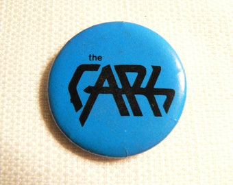 Vintage Late 70s The Cars - Blue and Black Logo - Pin / Button / Badge