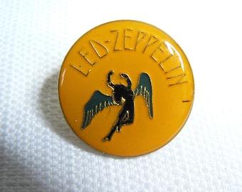 Vintage Early 1980s Led Zeppelin - Angel - Enamel Pin / Button / Badge