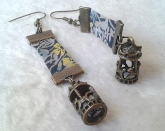 Earrings grey Liberty carousel