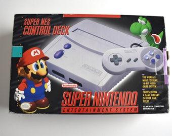 Original Super Nintendo (SNES) Entertainment System Complete In Box!