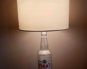 Lovely Pimms upcycled table lamp