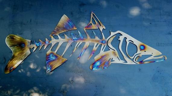 Snook Metal Wall Art, Snook Skeleton Art, Metal Fish Wall Art, Metal Snook, Ocean Wall Art, Outdoor Metal Wall Art, Fishing Anniversary Gift