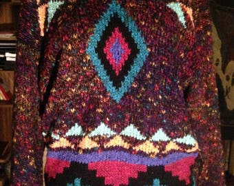 1980s Confetti Patterned Sweater