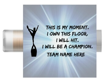 5pc Cheerleading Custom Lip Balm | Cheer Team Spirit Gift | Cheer Team Party | Cheerleading Chapstick | Cheerleader Favors | Cheer