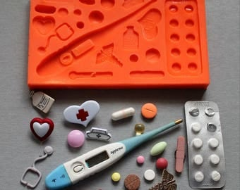 Silicone Mould Medical Sugarcraft Cake Decorating Fondant / fimo mold