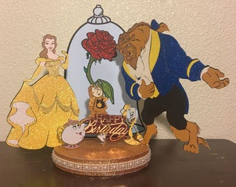 beauty and the beast cake topper and the beast cake topper etsy 1622