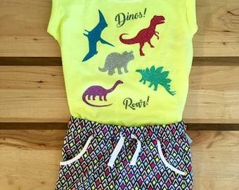 Dinosaur sparkles Roar Dino shirt