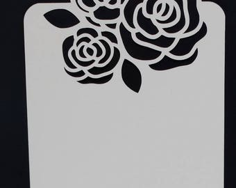 Tag bouquet of roses birthday card