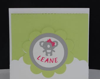 Thank you bag card pop up koala