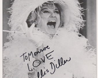 Phyllis Diller Original Vintage Hand Signed 8X10 Autographed Photo