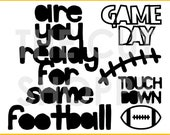 The Game Day Cut File includes 5 football themed images, for your scrapbooking and papercrafting projects.
