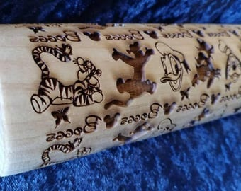 Disney Style Personalized Rolling Pin with Tigger