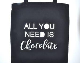 "Tote bag ""chocolate"""