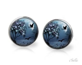 Stud Earrings mystical landscape 16