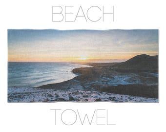 Sunset Beach Towel, Gym Accessory, Large Photo Towel, Iceland Landscape, Beach Photo Towel, Summer Accessories