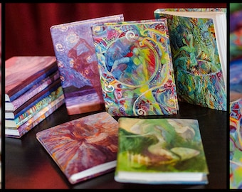 Blank Journals covered with Eryka Andthrax's Paintings