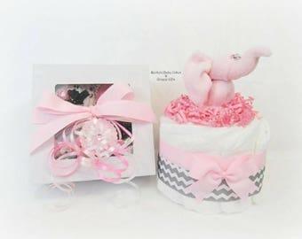 Onesie Cupcake, Baby Girl Gift, Baby Shower Gift, Elephant Baby Shower, Diaper Cake, Cupcake Onesie, Washcloth Animals, Unique Baby Gift