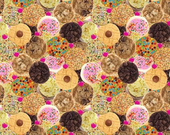 Cookies sprinkles mnm's Bakery Euro imported cotton lycra custom knit fabric