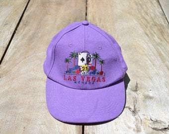 Vintage Purple Las Vegas Hat