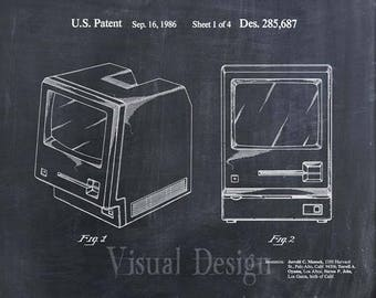 First Apple Computer Patent Print - Apple Patent Art Print