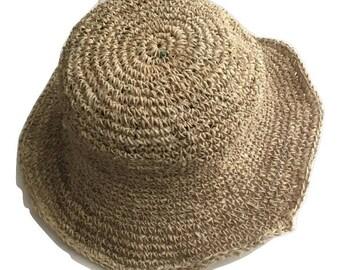 Eco Friendly Pure Hemp Sun Bonnet